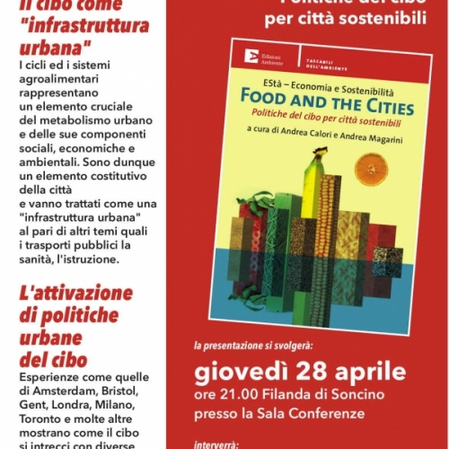 """Food and the cities"", incontro con Andrea Magarini il 28 aprile a Soncino"